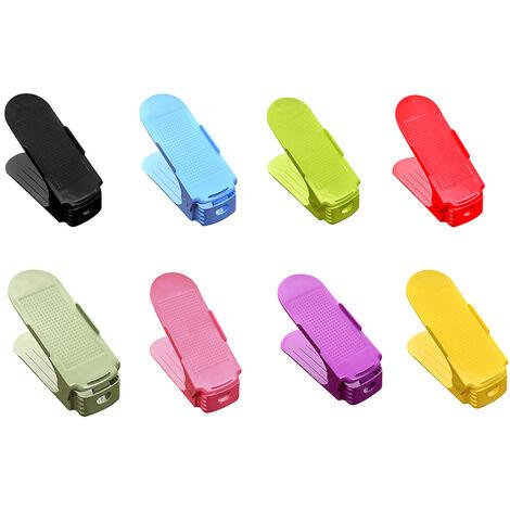 Zapatero ajustable de plastico, 10 piezas, color aleatorio