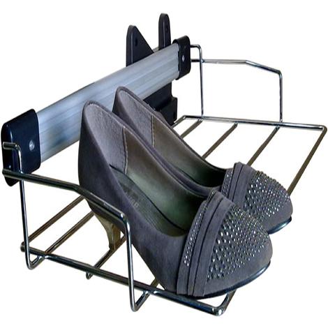 Zapatero deslizante con fijacion lateral fabricado en acero inoxidable 51 x 12 x 29cm.