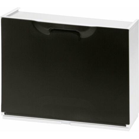 Zapatero resina 51x17x41cm. blanco y negro