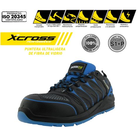 d0eac14a80 Zapato de Seguridad ultraligero Xcross S1P fibra de vidrio -Disponible en  varias versiones