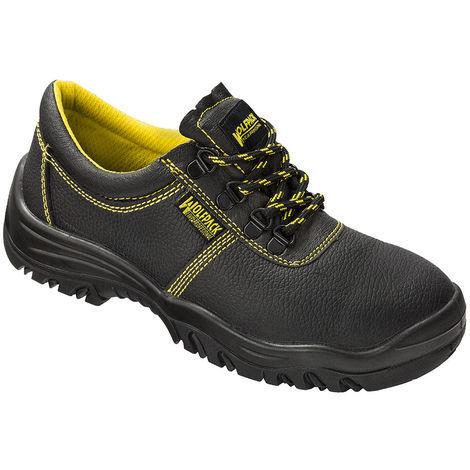 Zapatos Seguridad Piel Negra Wolfpack Nº 36 (Par)