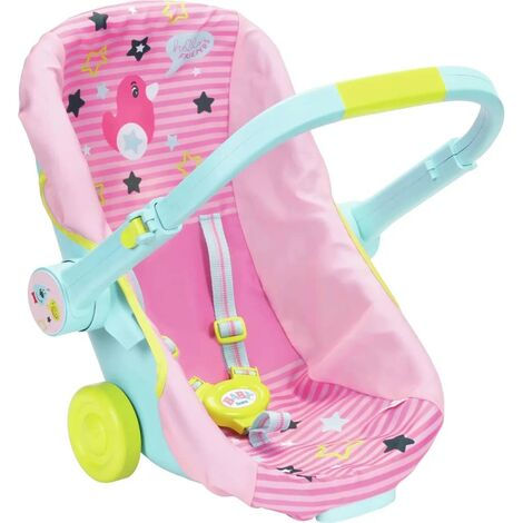 Zapf Creation Doll Travel Seat Baby Born Pink and Blue