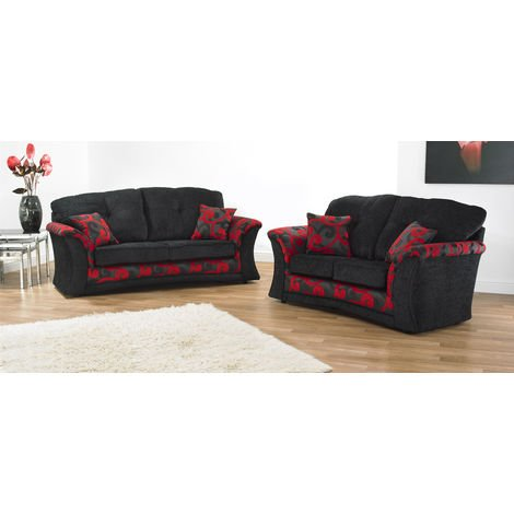 Zara 3 + 2 Seater Fabric Sofa