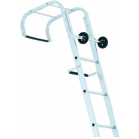 Zarges 100621 Industrial Roof Ladder 2-Part 1 x 9 & 1 x 10 Rungs 5.95m