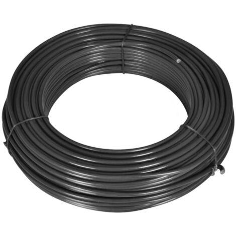 Zaun-Spanndraht 55 m 2,1/3,1 mm Stahl Grau