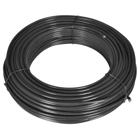 Zaun-Spanndraht 80 m 2,1/3,1 mm Stahl Grau