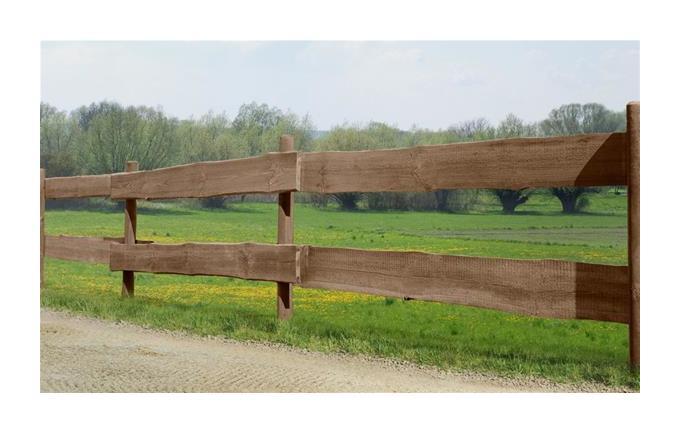 Zaunbohle Rancherzaunbohle Kiefer Kdi Braun Lange 240cm