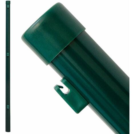 Zaunpfosten Pfosten 100cm Zaunpfahl Ø34mm Metall-Pfosten inkl. Drahthalter | für Einschlag-Bodenhülsen