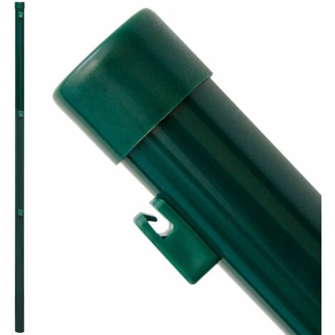 Zaunpfosten Pfosten 130cm Zaunpfahl Ø34mm Metall-Pfosten inkl. Drahthalter | zum Einbetonieren