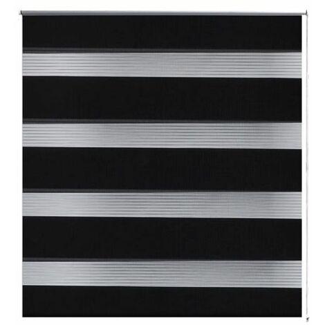 Zebra Blind 120 x 175 cm Black QAH08139
