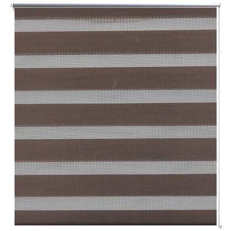 Zebra blind 60 x 120 cm coffee