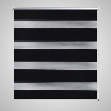 Zebra Blind 80 x 150 cm Black - Black