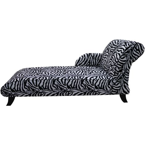 Zebra Fabric chaise lounge seat|Free warranty|DesignerSofas4U