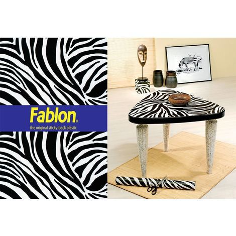 Zebra Print Sticky Back Plastic Arts Crafts Fablon Vinyl Durable Self Adhesive