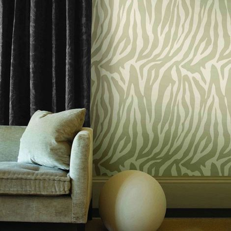 Zebra Wallpaper Animal Print Paste The Wall Beige & Cream Luxury Modern