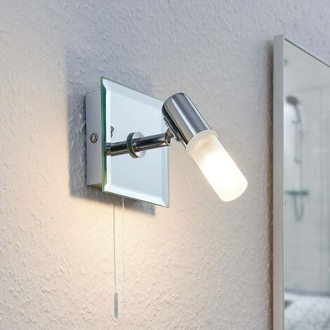 Zela wall light, bathroom light with pull switch
