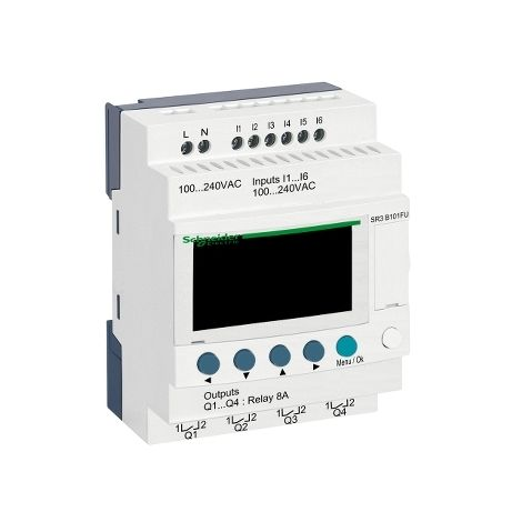ZELIO II M 6E/4R 100-240AC RELOJ PANTALL SCHNEIDER ELECTRIC SR3B101FU