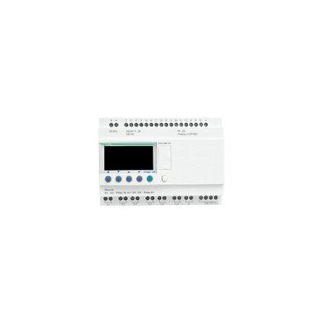 Zelio Logic - relais intelligent modul.- 26 E/S - 24Vcc - horloge - affichage - SR3B261BD