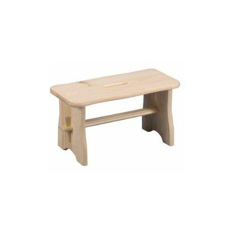 Zeller 13130 Repose-pieds en bois tendre 39 x 19 x 21 cm