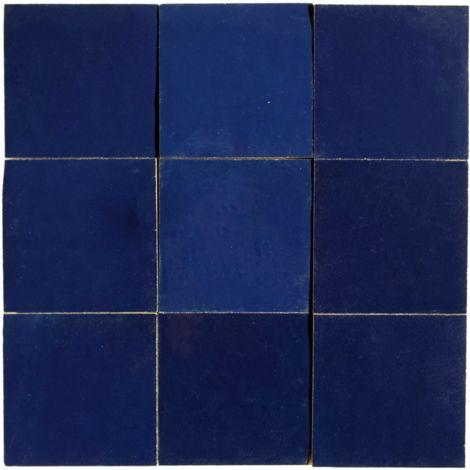 Zellige artisanal Bleu Nuit 10x10 cm - 100 pcs