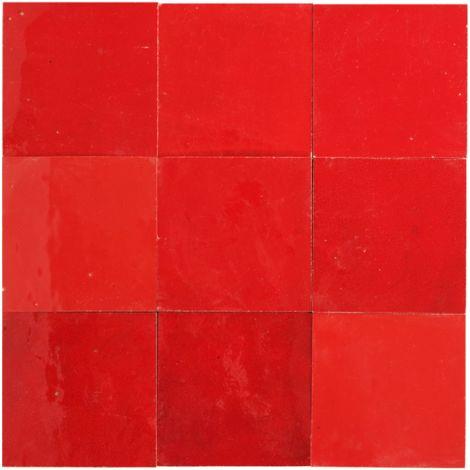 """main image of """"Zellige rouge pétillant 10x10 cm - 100 pcs"""""""