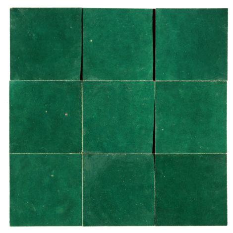 "main image of ""Zellige Vert Menthe 10x10 cm - 100 pcs"""