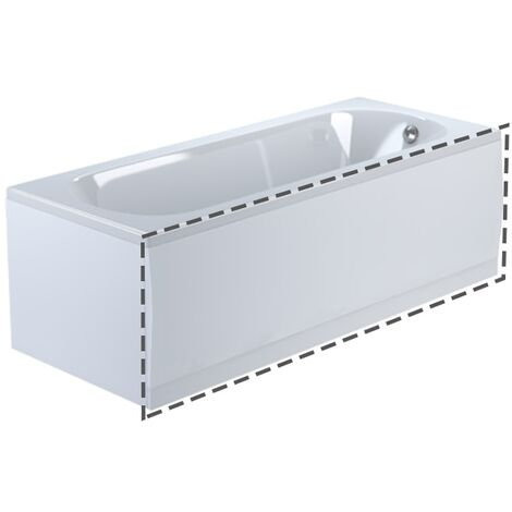 Zelora Bathroom Modern White Acrylic Standard Front Bath Panel - 1700mm X 550mm