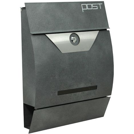 """Zelsius - """"Bodo"""" wall letter box, anthracite grey"""