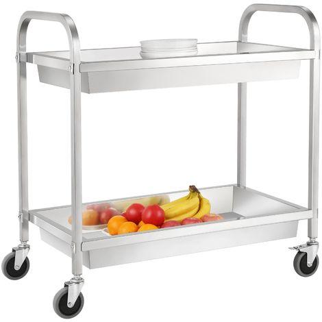Zelsius Chariot de service en acier inoxydable | Chariot de cuisine | ESW2