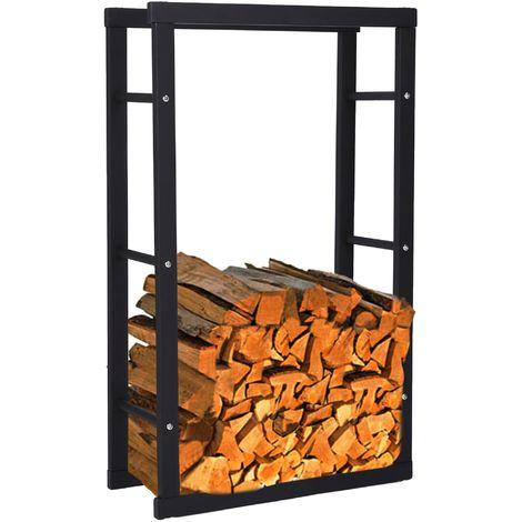 Zelsius firewood shelf, 150 x 60 x 25 cm, stand for firewood