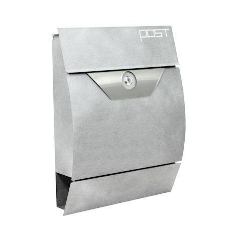 "Zelsius - ""Fulbe"" wall mailbox, mottled grey"