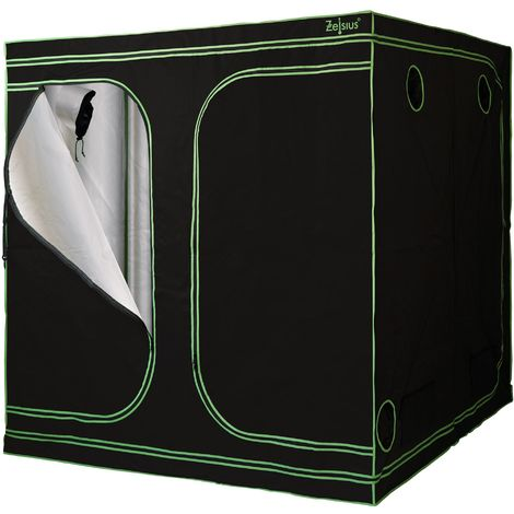ZELSIUS grow tent 200 x 200 x 200 cm, black/green, indoor plant growing