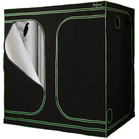 ZELSIUS grow tent 240 x 120 x 200 cm, black/green, indoor plant growing