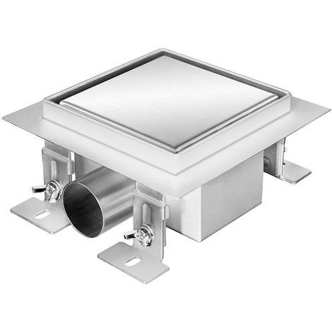 """ZELSIUS """"Noosa"""" stainless steel floor drain, 12 x 12 cm"""