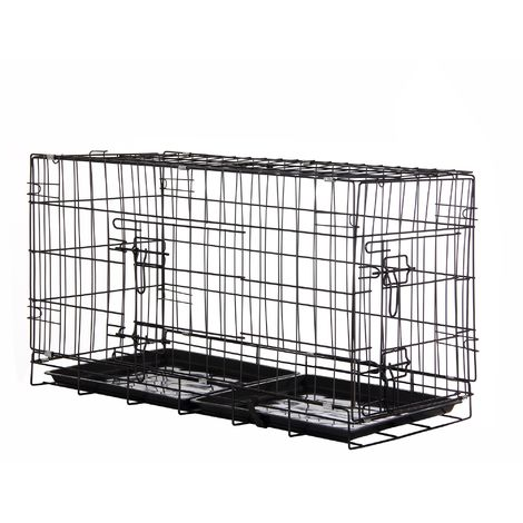 Zelsius pet cage, 80 x 40 x 48 cm, foldable, for dogs, cats, ...
