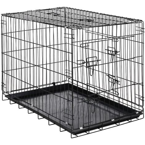 Zelsius pet cage, 91 x 60 x 66 cm, foldable, for dogs, cats, ...