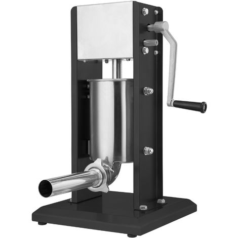 Zelsius professional sausage filling machine | 3 liters | black | Stainless steel sausage filler