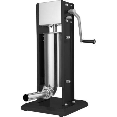Zelsius professional sausage filling machine | 5 liters | black | Stainless steel sausage filler