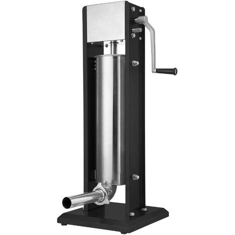 Zelsius professional sausage filling machine | 7 liters | black | Stainless steel sausage filler