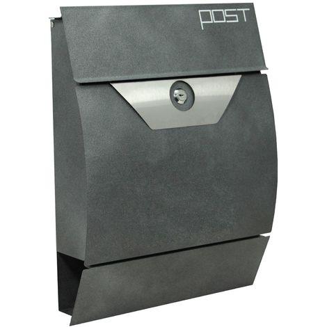 "Zelsius - ""Samburu"" wall letterbox, mottled grey"