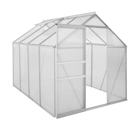Zelsius Serre en aluminium | 250 x 190 cm | Panneaux de 6 mm, 4,75m²