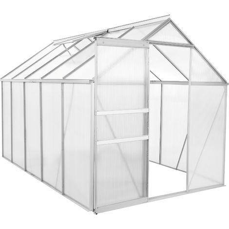 Zelsius Serre en aluminium | 310 x 190 cm | Panneaux de 6 mm, 5,90m²
