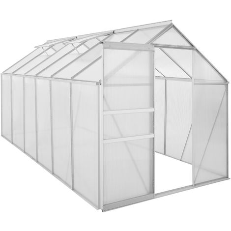 Zelsius Serre en aluminium | 380 x 190 cm | Panneaux de 6 mm, 7,22m²