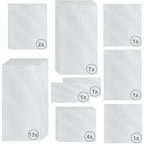 Zelsius Set de Plaques de Polycarbonate 31 pièces   Feuille double paroi
