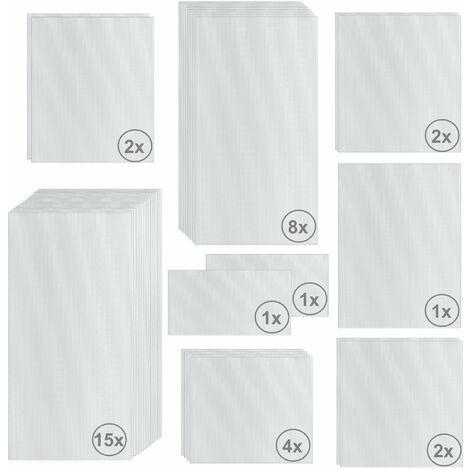 Zelsius Set de Plaques de Polycarbonate 36 pièces   Feuille double paroi
