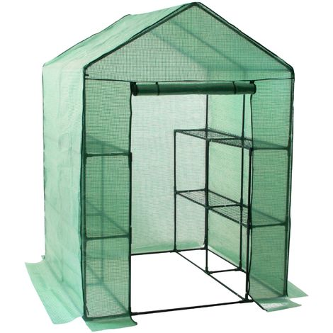 Zelsius sheet greenhouse with 8 shelves, 195x143x143 cm, tomato house