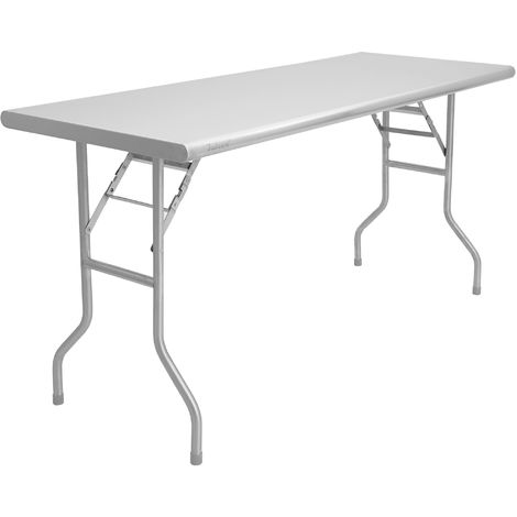 Zelsius stainless steel folding table for the garden 152 x 61 x 78 cm | Camping table