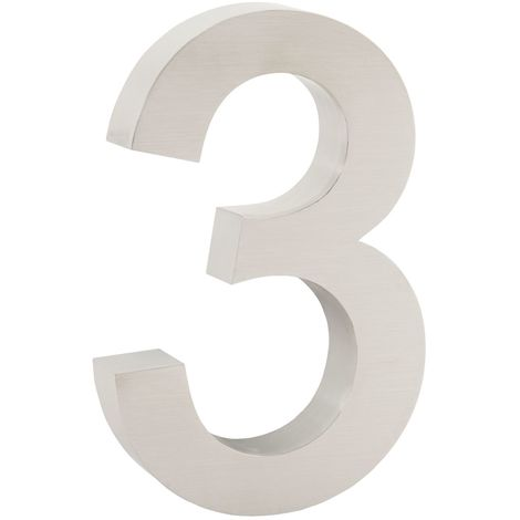 """ZELSIUS stainless steel house number """"3"""""""