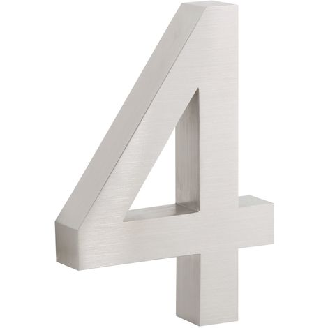 """ZELSIUS stainless steel house number """"4"""""""