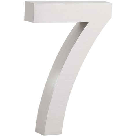 """ZELSIUS stainless steel house number """"7"""""""